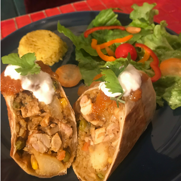 4 Pack Grilled Chicken Burritos  4パック入り チキンブリトー