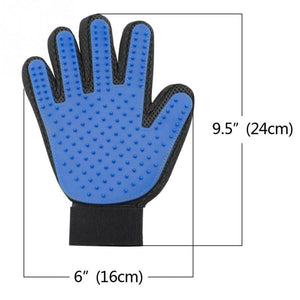 Deshedding silicone glove