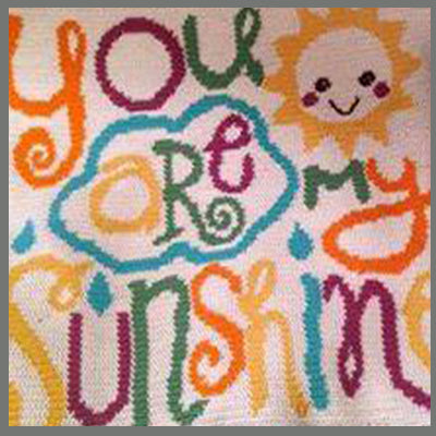 You Are My Sunshine Single Crochet Graphgan