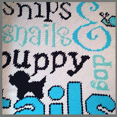 Snips Snails and Puppy Dog Tails C2C Crochet Graphgan
