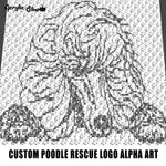 Custom Poodle Rescue Logo Alpha Art crochet graphgan blanket pattern; graphgan pattern, c2c; single crochet; cross stitch; graph; pdf download; instant download