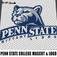 Penn State Collegiate Nittany Lions Logo And Mascot Pennsylvania College crochet graphgan blanket pattern; graphgan pattern, c2c; single crochet; cross stitch; graph; pdf download; instant download