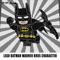 Lego Batman DC Comics Television Movie Cartoon Superhero crochet graphgan blanket pattern; c2c; single crochet; cross stitch; graph; pdf download; instant download