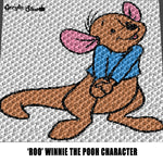 Just Roo Winnie the Pooh Character Disney Cartoon Movie crochet graphgan blanket pattern; graphgan pattern, c2c, single crochet; cross stitch; graph; pdf download; instant download