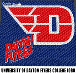 University Of Dayton Flyers Logo Dayton Ohio College Logo crochet graphgan blanket pattern; graphgan pattern, c2c; single crochet; cross stitch; graph; pdf download; instant download