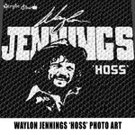 Waylon Jennings aka Hoss Country Music Singer Nashville Star Country Western Photograph Art Alpha Art crochet graphgan blanket pattern; graphgan pattern, c2c; single crochet; cross stitch; graph; pdf download; instant download