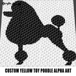 Custom Yellow Toy Poodle Alpha Art crochet graphgan blanket pattern; graphgan pattern, c2c; single crochet; cross stitch; graph; pdf download; instant download