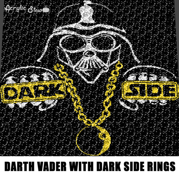 Darth Vader Dark Side Rings Star Wars crochet graphgan blanket pattern; c2c, cross stitch; graph; pdf download; instant download