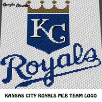 Kansas City Royals MLB Baseball Team Logo crochet graphgan blanket pattern; c2c, cross stitch graph; instant download