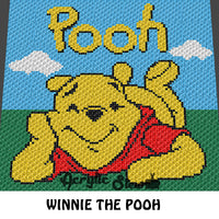 Winnie the Pooh Disney Cartoon Character crochet graphgan blanket pattern; c2c, cross stitch graph; pdf download; instant download