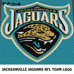 Jacksonville Jaguars Florida NFL Football Team Logo crochet graphgan blanket pattern; c2c, cross stitch graph; pdf download; instant download