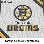 Boston Bruins NHL Team Boston Massachusetts Hockey Team crochet graphgan blanket pattern; c2c, cross stitch graph; pdf download; instant download