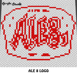 Custom Coca Cola Nutella McDonald's Pringles Ale 8 Reese's Logo Collage crochet blanket pattern; c2c, cross stitch graph; instant download