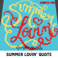 Summer Lovin' crochet blanket pattern; c2c, cross stitch graph; instant download