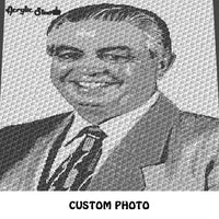 Custom Color to Black and White Photograph crochet graphgan blanket pattern; c2c, cross stitch graph; instant download