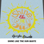 Shine Like the Sun C2C crochet blanket pattern; graphgan; afghan; graphgan pattern, cross stitch; pdf download; instant download