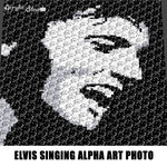 Elvis The King of Rock N' Roll Musician Alpha Art Photograph C2C crochet graphgan blanket pattern; afghan; graphgan pattern, cross stitch graph; pdf download; instant download