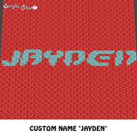 Custom Personalized Name  'Jayden' Monogrammed crochet graphgan blanket pattern; c2c, cross stitch graph; instant download