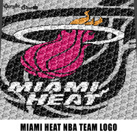 Miami Heat NBA Team Logo American Professional Basketball Team crochet graphgan blanket pattern; c2c; cross stitch; graph; pdf download; instant download