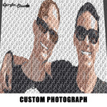 Custom Photo Color Memoir crochet graphgan blanket pattern; c2c; single crochet; cross stitch; graph; pdf download; instant download
