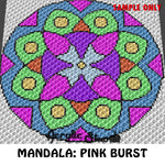 Mandala Geometric Art crochet blanket pattern; c2c, cross stitch graph; instant download