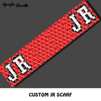 Custom JR Lancers logo crochet scarf pattern; C2C pillow pattern, crochet scarf; pdf download; instant download