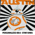 Custom Personalized BB-8 Star Wars crochet graphgan blanket pattern; c2c, cross stitch graph; pdf