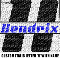Custom Personalized Letter 'H' and Name 'Hendrix' crochet gragphan blanket pattern; graphgan pattern, c2c, single crochet; cross stitch; graph; pdf download; instant download