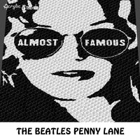 The Beatles Penny Lane Song Cover Stencil Alpha Art crochet blanket pattern; c2c, cross stitch graph; instant download