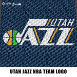 Utah Jazz NBA Team Logo American Professional Basketball Team crochet graphgan blanket pattern; c2c; cross stitch; graph; pdf download; instant download