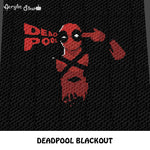 Deadpool Movie Marvel Comics Sarcastic Antihero crochet graphgan blanket pattern; c2c, cross stitch graph; instant download
