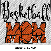 Basketball Mom Baseball B Ball Quote crochet blanket pattern; c2c, knitting, cross stitch graph; pdf download; instant download