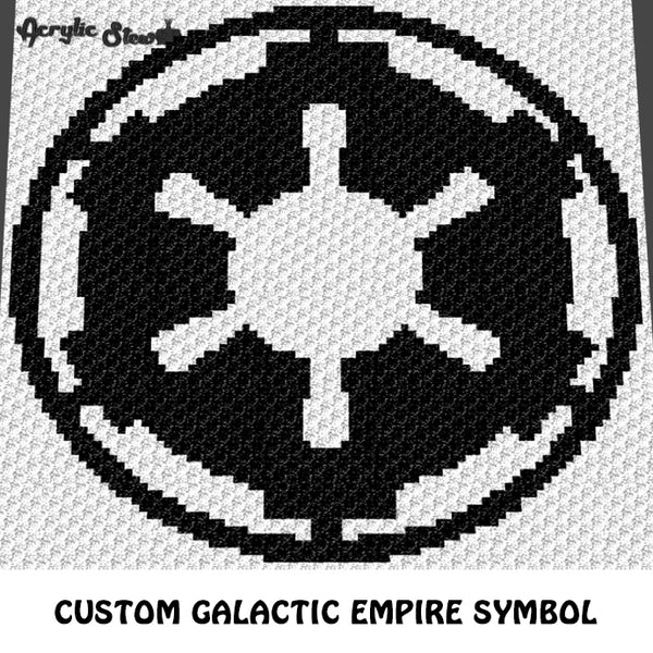 Custom Galactic Empire Symbol Star Wars Movie crochet graphgan blanket pattern; c2c, cross stitch graph; instant download