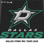 Dallas Stars NHL Team Dallas Texas Hockey Team crochet graphgan blanket pattern; c2c, cross stitch graph; pdf download; instant download