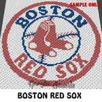 Boston Red Sox MLB  crochet blanket pattern; c2c, cross stitch graph; instant download