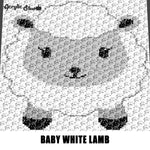 Baby White Lamb Farm Animals Sheep crochet graphgan blanket pattern; c2c, cross stitch; graph; pdf download; instant download