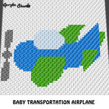 Baby Plane Train Car Boat Little Transport Vehicles crochet graphgan blanket pattern; c2c, cross stitch graph; pdf download; instant download