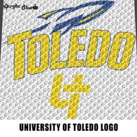 University of Toledo Rockets Toledo Ohio College Logo crochet graphgan blanket pattern; c2c; cross stitch; graph; pdf download; instant download