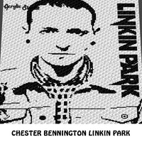 Chester Bennington Photograph Art Linkin Park Logo Alternative Rock N' Roll Musician C2C crochet graphgan blanket pattern; afghan; graphgan pattern, cross stitch graph; pdf download; instant download