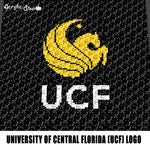 University of Central Florida UCF Logo & Mascot Pegasus College crochet graphgan blanket pattern; graphgan pattern, c2c; single crochet; cross stitch; graph; pdf download; instant download