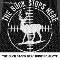 The Buck Stops Here Country Western Hunting Rifle Scope crochet graphgan blanket pattern; c2c, cross stitch graph; pdf download; instant download