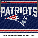 New England Patriots NFL Football Team Logo crochet graphgan blanket pattern; c2c, cross stitch graph; pdf download; instant download