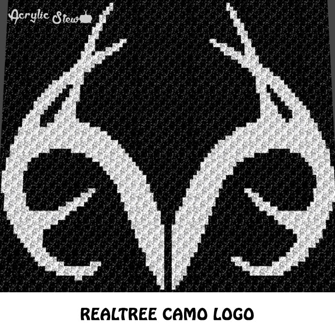 Realtree Antlers Camo Country Western C2c Crochet Graphgan