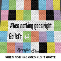 If Nothing Goes Right C2C crochet blanket pattern; graphgan; afghan; graphgan pattern, cross stitch; pdf download; instant download