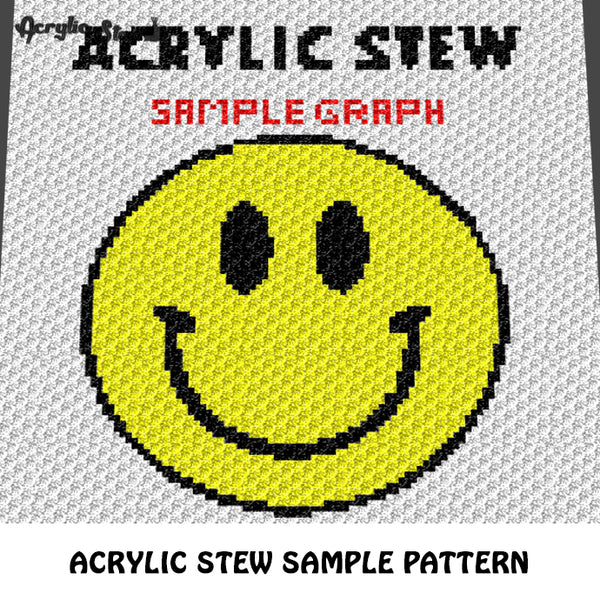 Acrylic Stew Sample First Project To Try crochet graphgan blanket pattern; c2c, cross stitch; graph; pdf download; instant download