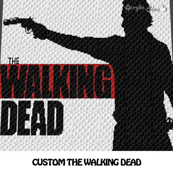 Custom The Walking Dead crochet blanket pattern; c2c, cross stitch graph; instant download