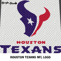 Houston Texans NFL Football Team Logo crochet graphgan blanket pattern; c2c, cross stitch graph; pdf download; instant download