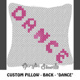 Custom Point Ballet Shoes 2 Sided crochet pillow pattern; C2C pillow pattern, crochet pillow case; pdf download; instant download