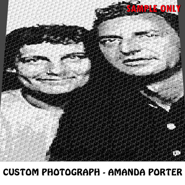 Custom Order Photograph crochet blanket pattern; c2c, knitting, cross stitch graph; pdf download; instant download - A. Porter