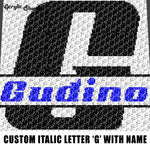 Custom Personalized Letter 'G' and Custom Name for Boy crochet graphgan blanket pattern; graphgan pattern, c2c, single crochet; cross stitch; graph; pdf